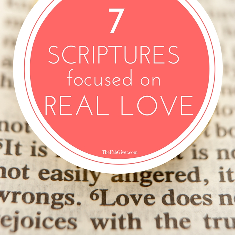 scriptures about love
